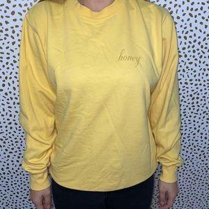 honey yellow crewneck